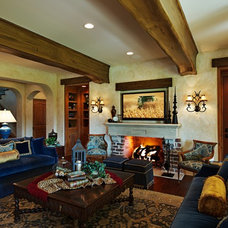 Mediterranean Living Room by Dan Waibel Designer Builder