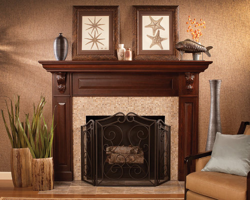 Southwestern Fireplace Home Design Ideas Pictures