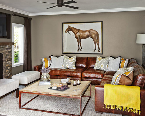 Chocolate Brown Leather Sectional Sofa Design IdeasRemodel