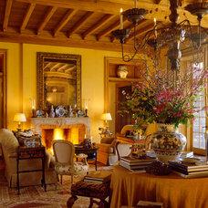Mediterranean Living Room by David Easton Inc.