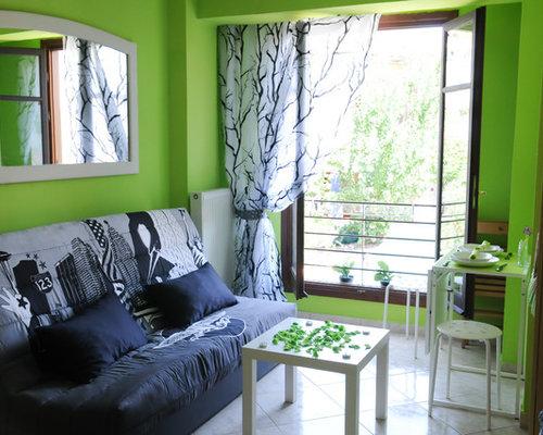 soggiorno con pareti verdi grecia - foto e idee per arredare - Soggiorno Pareti Verdi 2