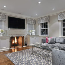 Transitional Living Room by Showcase Kitchens