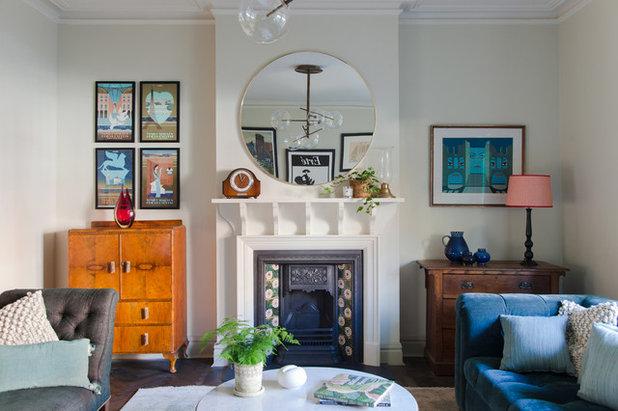 Arts & Crafts Living Room by Brooke Copp-Barton | Home Interior Design