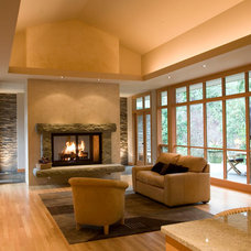 Contemporary Living Room by Holliday Masonry