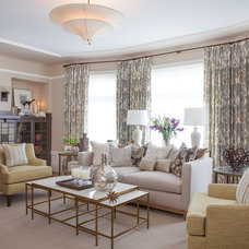 Traditional Living Room by Faiella Design