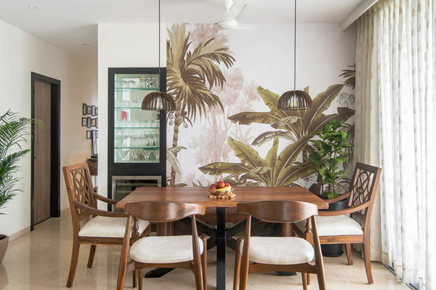 Tropical Living Room by Ariyona Interior