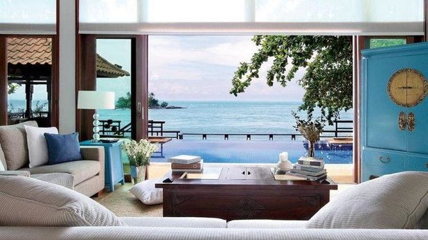 Beach Style Living Room by Gallery 278 Pte Ltd by Esco Leasing Pte Ltd