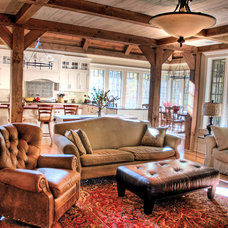 Traditional Living Room by Foley Beam Architecture