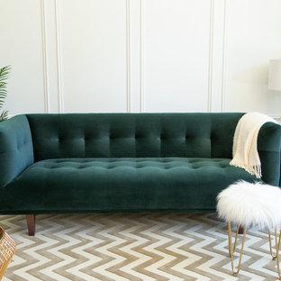 Abbyson Living Seager Chesterfield Velvet Sofa, Emerald Green