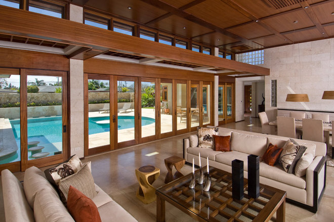 Contemporary Living Room by Lapis Design Partners