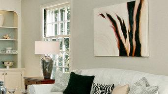 Abstract Art in Darien Home