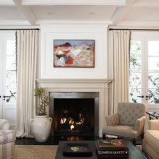 Transitional Living Room by Blue Tangerine Art