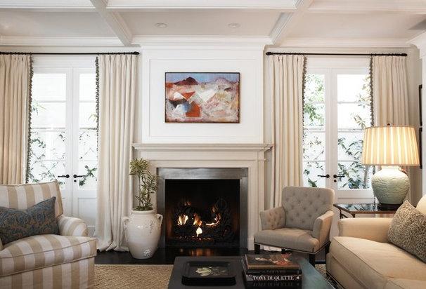 Transitional Living Room by Blue Tangerine Art