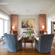 Transitional Living Room by Creative Touch Interiors