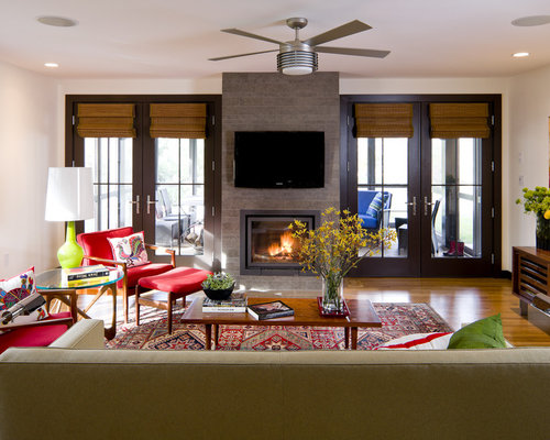 Living Room Fireplace Idea Houzz