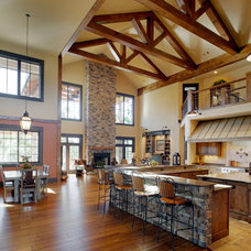 Craftsman Living Room by Palmer Architects