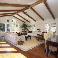 Traditional Living Room by square three design studios