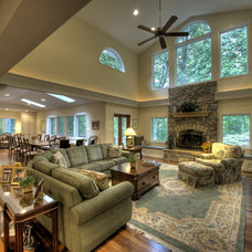 Traditional Living Room by Moss Building and Design