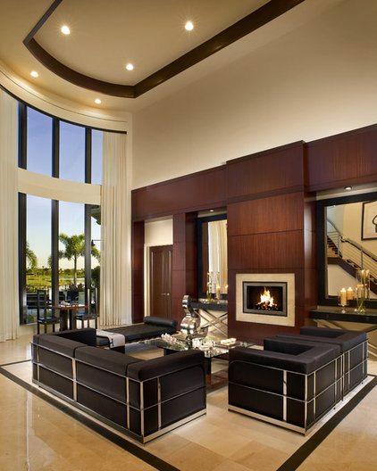 Contemporary Living Room by Jeffrey King Interiors