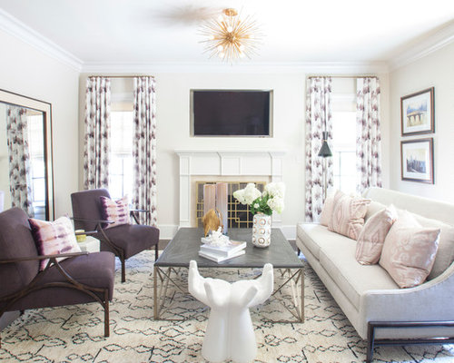 Livingroom Idea Glamorous Living Room Ideas & Design Photos  Houzz Decorating Inspiration