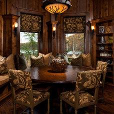 Rustic Living Room by Denise Stringer Interior Design