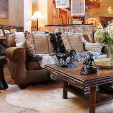 Rustic Living Room by Madison Modern Home