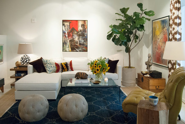Eclectic Living Room by Adrienne DeRosa
