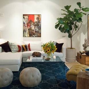Living room - eclectic living room idea in New York