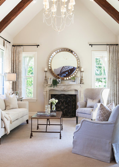 Transitional Living Room by McKee & Company