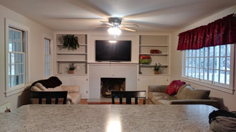 After - Living Room & Fireplace Area Makeover