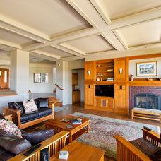 Craftsman Living Room by Dogwood Interiors