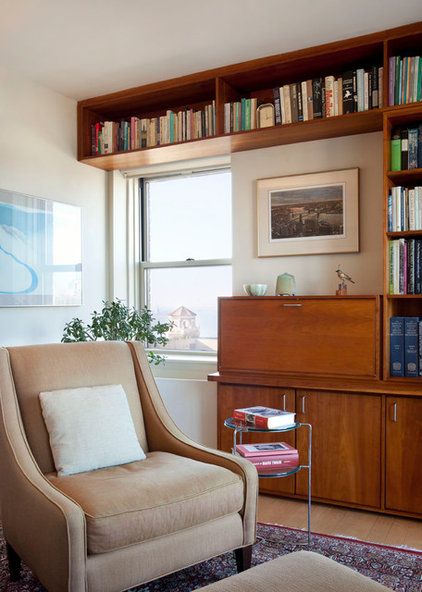 Transitional Living Room by Ageloff & Associates