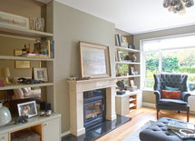 What is the name of the fireplace and the inset fire where can you buy