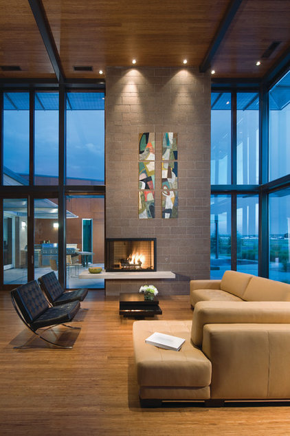 Contemporary Living Room by Architectural Workshop