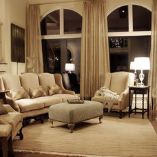 Traditional Living Room by A Waters