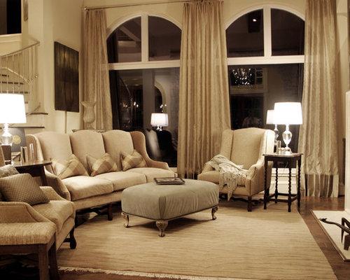 long drapes houzz. Black Bedroom Furniture Sets. Home Design Ideas