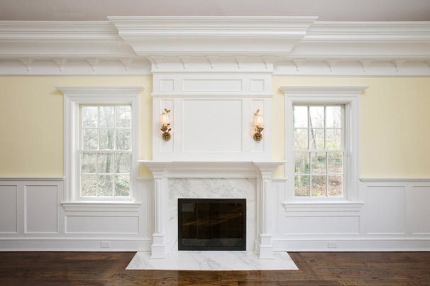 Traditional Living Room by Akke Woodworks