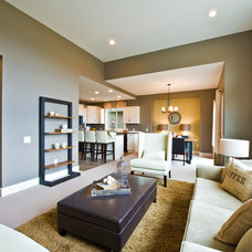 Contemporary Living Room by Sticks and Stones Design Group Inc