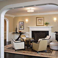 Traditional Living Room by LMK Interiors