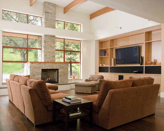 Living Room With Fireplace And Tv On Different Walls tv and fireplace on different wall | houzz