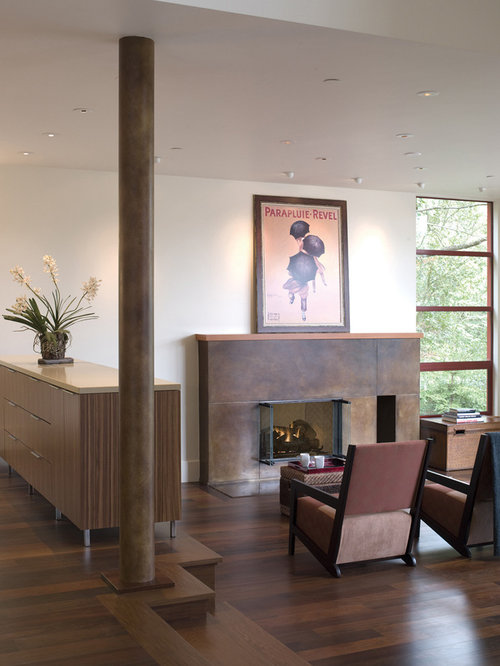 Column Fireplace | Houzz