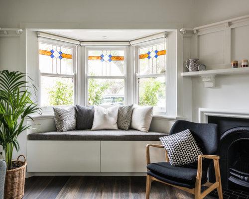 Transitional Living Room Designs. Design Ideas For A Transitional Living  Room In Melbourne With White