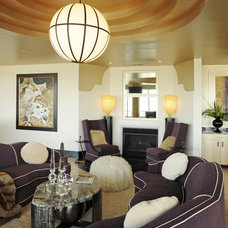 Contemporary Living Room by Albrecht Wood Interiors