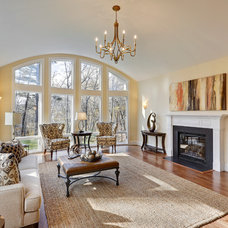 Traditional Family Room by Acorn Deck House Company