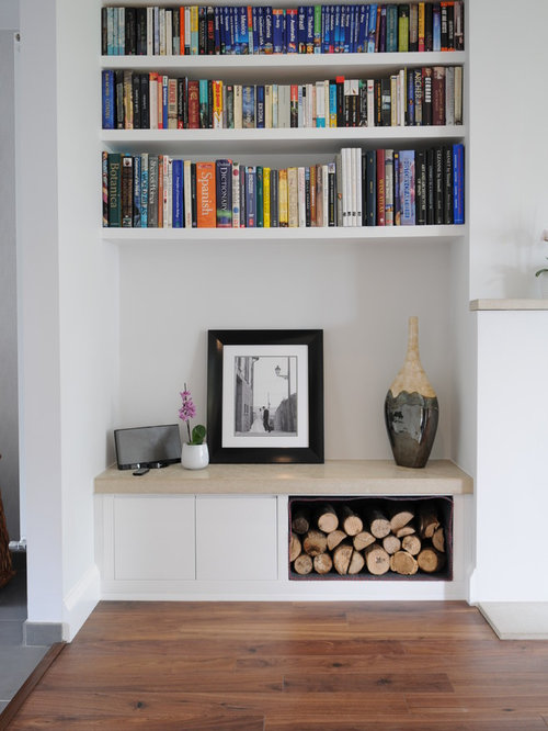 Alcove shelves houzz for Alcove ideas decoration