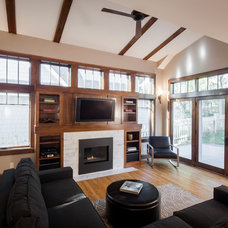 Craftsman Living Room by Westwind Woodworkers Inc.