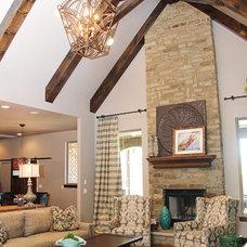 Transitional Living Room by Alder Fine Homes
