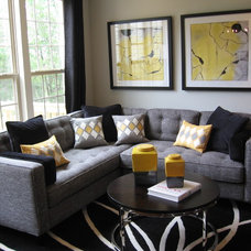 Contemporary Living Room by Laura Manning Bendik