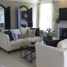 Eclectic Living Room by Laura Manning Bendik