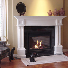 Traditional Living Room by Hazelmere Mantel
